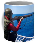 Aviation Ordnanceman Fires An M-14 Coffee Mug