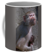 Baboon Carrying Her Baby Coffee Mug