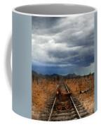 Baby Buggy On Railroad Tracks Coffee Mug