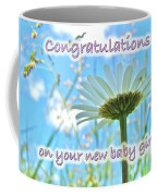 Baby Girl Congratulations Greeting Card - Oxeye Daisies Coffee Mug