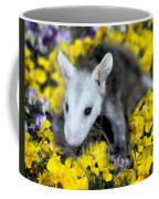 Baby Opossum In Flowers Coffee Mug