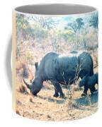 Baby Rhinoceros And Mother Coffee Mug