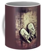 Baby Shoes On Wood Coffee Mug