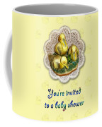 Baby Shower Invitation - Yellow Ducklings Figurine Coffee Mug