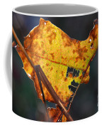 Back-lit Golden Leaf Coffee Mug