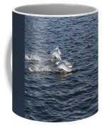 Backlit Swans Coffee Mug