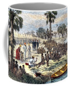 Baker Liberating Slaves In Africa, 1869 Coffee Mug by Photo Researchers