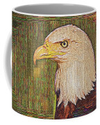 Bald Eagle Embroidered Coffee Mug