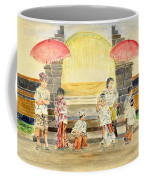 Balinese Children In Traditional Clothing Coffee Mug