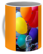 Balloons Tied To Parking Meter Coffee Mug