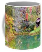 Barn And Pond In The Fall Coffee Mug
