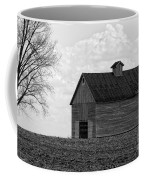 Barn And Tree In Black And White Coffee Mug