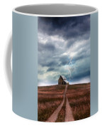Barn In Lightning Storm Coffee Mug