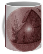 Barn Snow Globe Coffee Mug