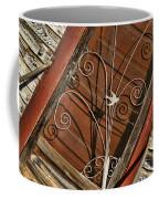 Barn Swallow Gracing Historial Train Station Door Coffee Mug