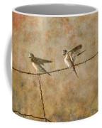Barn Swallows On Barbed Wire Fence Coffee Mug