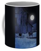 Barn Under A Full Moon Coffee Mug