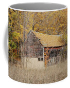 Barn With Autumn Leaves Coffee Mug