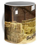 Barn With Hay Bales Coffee Mug
