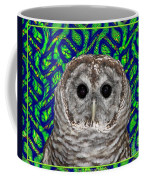 Barred Owl In A Fractal Tree Coffee Mug