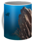 Barrel Sponge And Diver, Papua New Coffee Mug