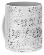 Baseball Cartoons, 1859 Coffee Mug