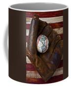 Baseball Mitt With Earth Baseball Coffee Mug
