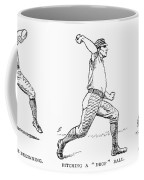 Baseball Pitching, 1889 Coffee Mug