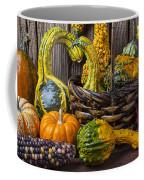 Basket Full Of Gourds Coffee Mug