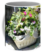 Basket Of Ivy And Flowers In The Sunshine Coffee Mug