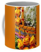 Basket Of Spring Flowers Coffee Mug