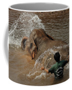 Bath Time In Laos Coffee Mug