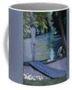 Bather About To Plunge Into The River Yerres Coffee Mug