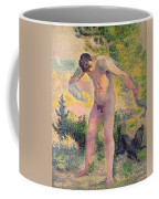 Bather Drying Himself At St Tropez Coffee Mug