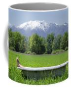 Bathtub On A Green Field Coffee Mug