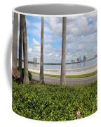 Bayshore Through Palms Coffee Mug