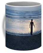 Beach Boy Silhouette Coffee Mug