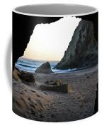 Beach Cave At Bandon Oregon Coffee Mug