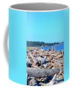 Beach Of Logs Coffee Mug