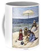 Beach Scene, 1879 Coffee Mug