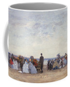 Beach Scene Near Trouville Coffee Mug by Eugene Louis Boudin