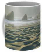 Beach With Dunes And Seastack Rocks Coffee Mug
