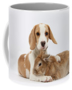 Beagle Pup And Rabbit Coffee Mug