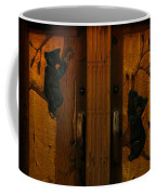 Bear Doors Carved Coffee Mug