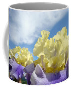 Bearded Iris Flowers Art Prints Floral Irises Coffee Mug