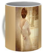Beautiful Lady In Sequin Gown Looking Out Window Coffee Mug