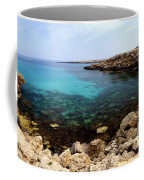 Beautiful View On Mediterranean Sea Cape Gkreko In Cyprus Coffee Mug