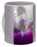 Bedazzled Purple And White Iris Coffee Mug