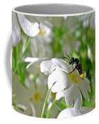 Bee On Primrose Coffee Mug