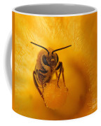Bee On Squash Flower Coffee Mug